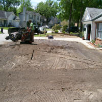 tilling soil for new sod installation